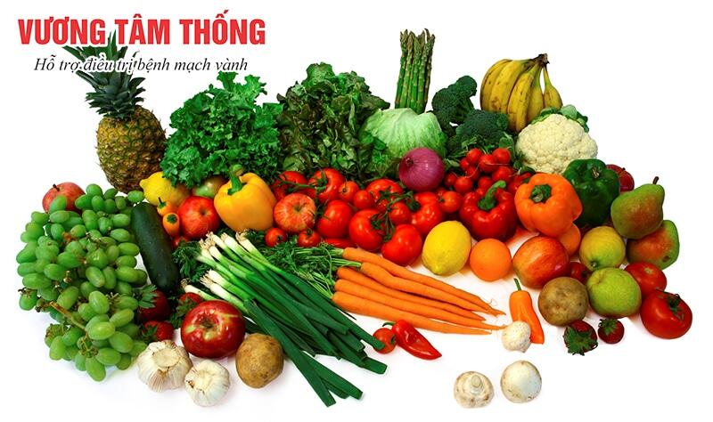 Người bệnh mạch vành nên ăn nhiều trái cây và rau quả